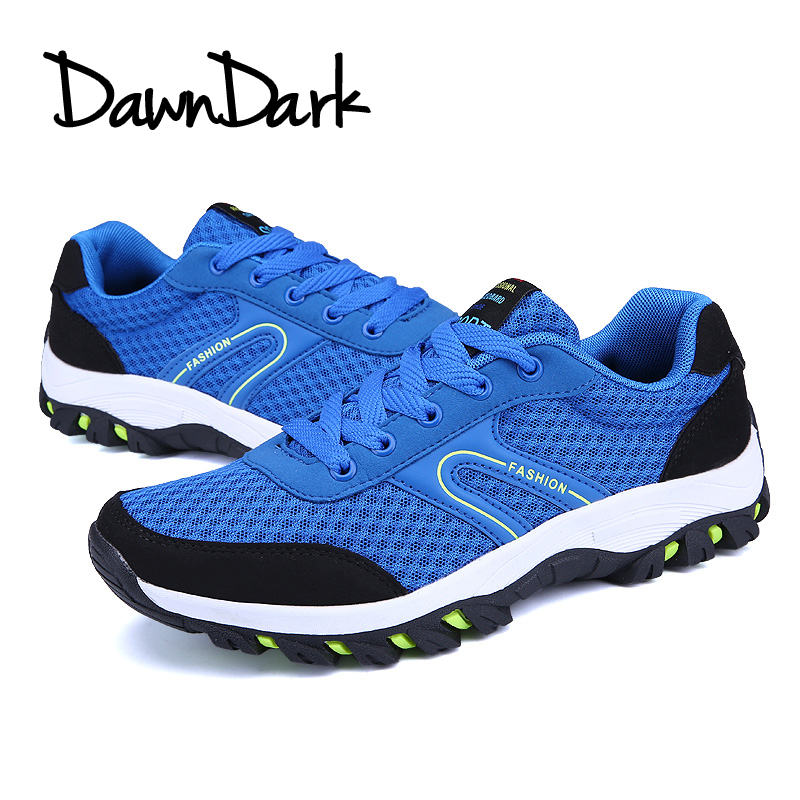 Men Hiking Shoes Breathable Outdoor Man Camping Mountain Climbing Shoes Lace Up Mesh Male HuntingTrekking Sneakers
