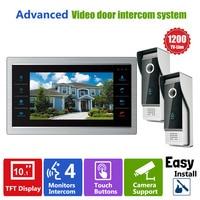 Homefong Kamera ile 10 inç HD Kapı Telefon Video Kapı Zili Sistemi Kablolu Video 1200TVL 2V1 Ev Apartman Giriş Kiti