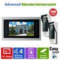 Ysecu 10 дюймов HD домофонные видео-дверной звонок система с камеры-обскуры-4 проводной видео-телефон 1200TVL 2V1 главная квартира комплект
