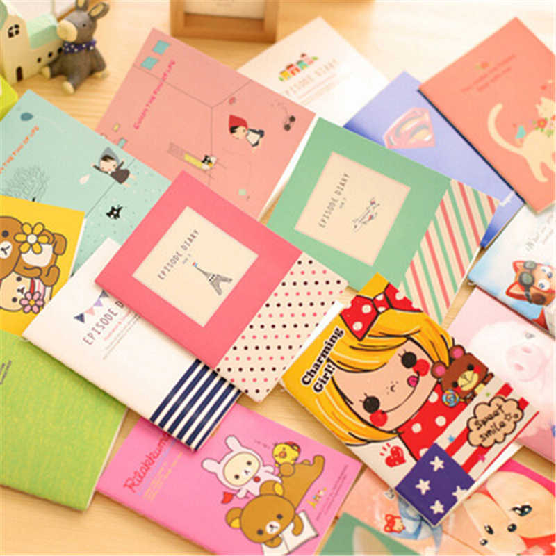 South Korean student stationery multi function cartoon pattern small notebook soft noodles copy note book