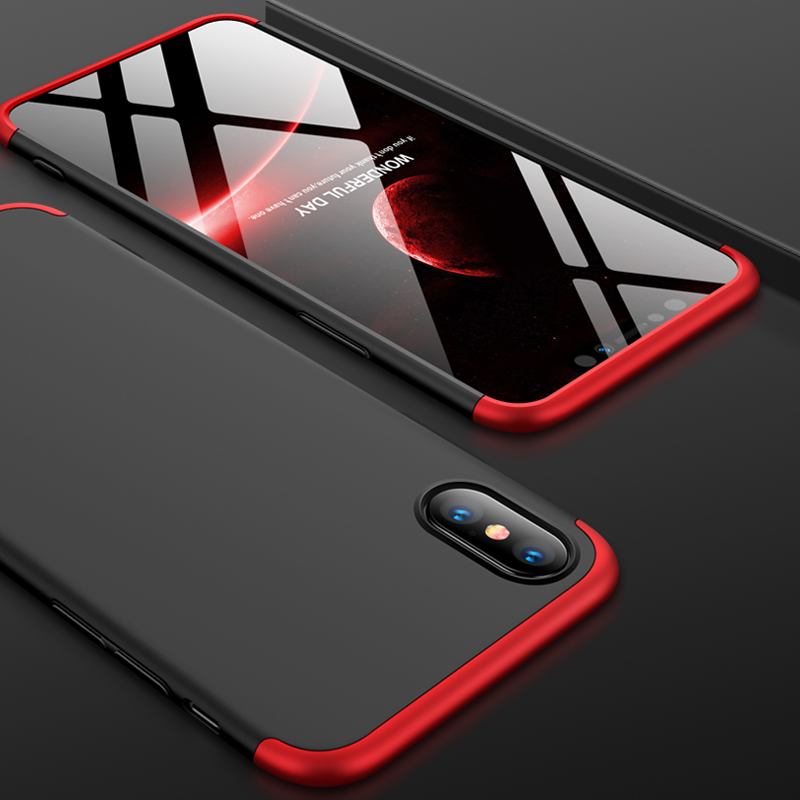 For iPhone XS Max 6.5inch Case 360 Degree Full Luxury 3-IN-1 Shockproof Frosted Shield Hard Back Cover Case For iPhone XSMaxCase (6)