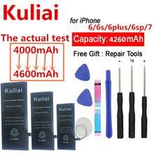 Batterie de téléphone Kuliai pour iPhone 6 6 S Plus 6plus 6splus 7 iPhone6 batterie de remplacement au Lithium polymère haute capacité + outils gratuits