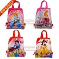 20pcs Princess Cartoon Drawstring Backpack Bags 34*27CM School Furniture Non-Woven Fabric Kids Party & Candy Bags as Gift