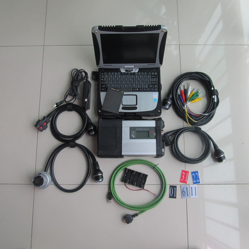 mb star diagnosis c5 with laptop toughbook cf19 newest software 2017.05 ssd 250gb installed well ready to use for 12v and 24v  цены