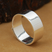 Handmade 999 Silver Ring Real Pure silver Ring Adjustable Ring Women Ring