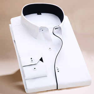 Image 3 - FillenGudd, camisas de vestir lisas de talla grande 8XL de manga larga para hombre, camisas grandes 7XL 6XL blancas, camisas sociales baratas, ropa importada de China para hombre