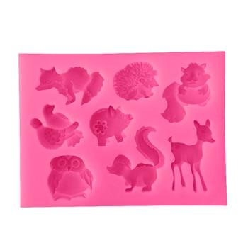 1 шт. силиконовая форма для украшения торта с изображением белки/Ежика/оленя, инструменты для украшения торта, кухонная форма для выпечки, форма для шоколадного мыла, силиконовая форма