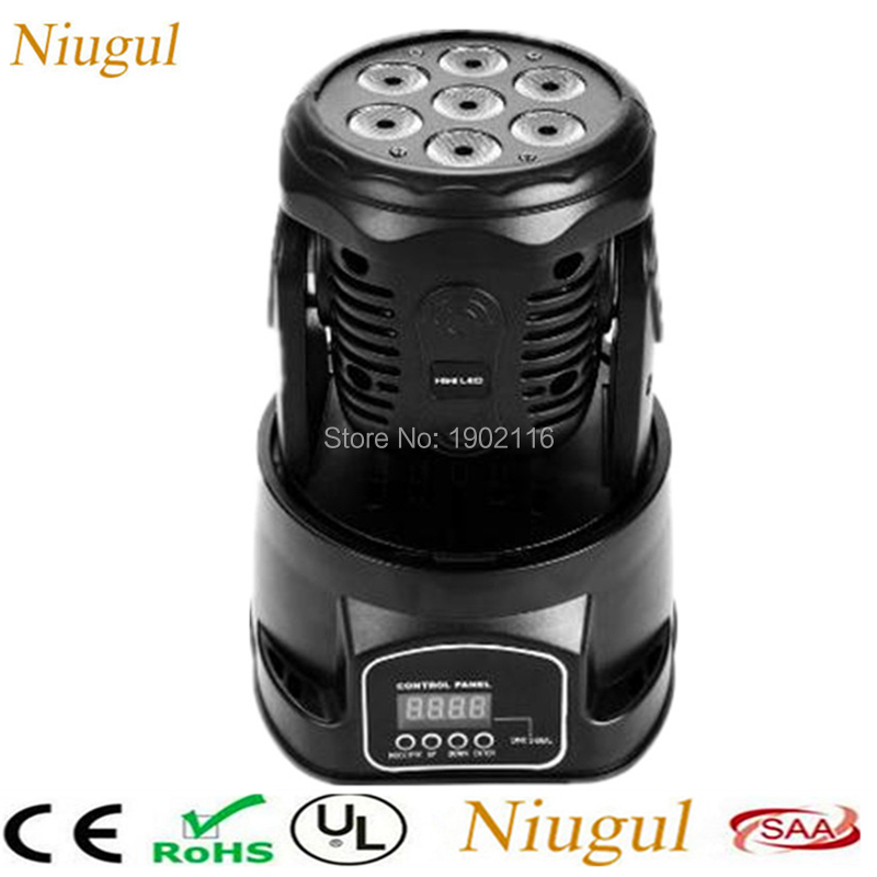 Niugul 7X12W RGBW 4in1 LED Mini Moving Head Light /DJ Disco Lighting /DMX Stage Party Disco Club KTV Rotate Ligts/LED Beam Lamps super brightness 4x10w rgbw led mini beam moving head dj light led wash disco lighting led display dmx dj equipment for party
