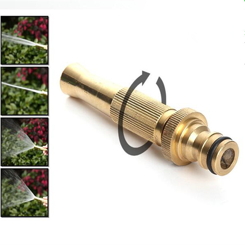 Tekanan Tinggi Air Gun Cuci Spray Muncung Garden Tools Watering Irrigation Water Sprayer Tembaga Garden Water Water W105
