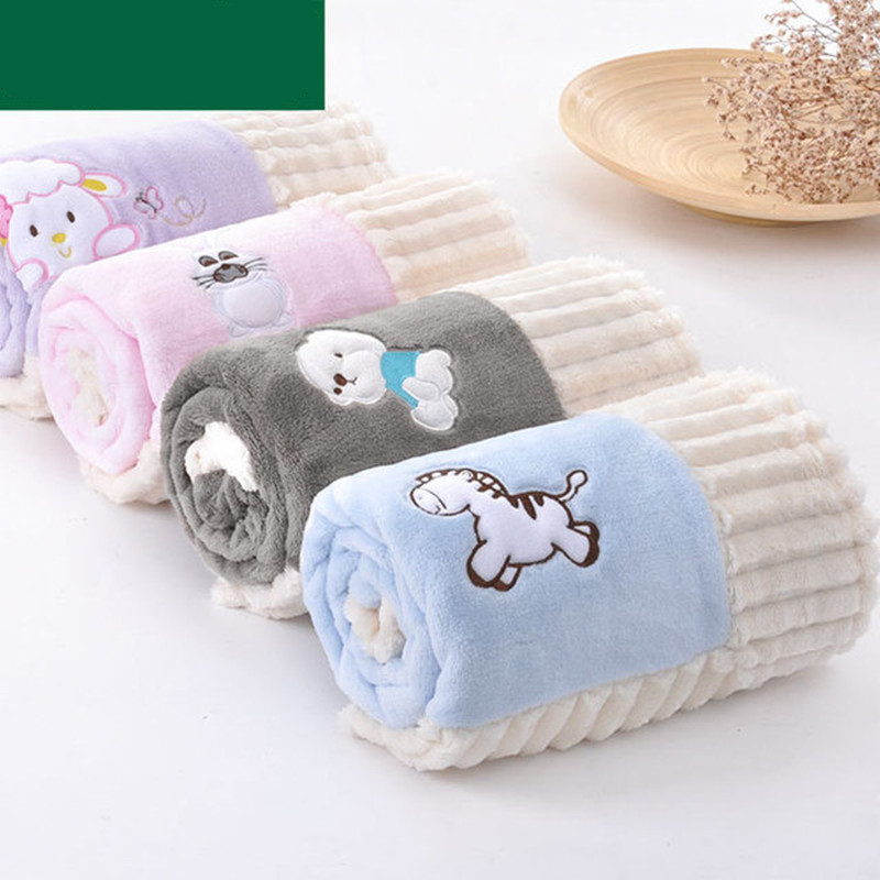 Newborn Baby Swaddling Blanket High Quality Toddler Infant Flannel Sofa Bedding Cover Winter Cartoon Bebe Wrap Blankets 100*80cm new baby blankets wrap soft blankets baby toddler bedding knitted newborn cute fox swaddling bed sofa blanket mat kids gift
