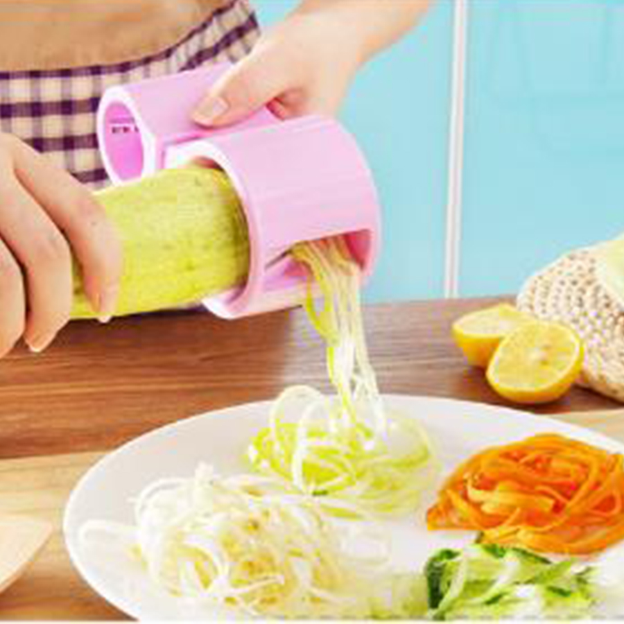 US $6 66  1 piece Creative Kitchen Supplies Spiral Double Head Shaper  Cutter vegetable Cutter with Grinder-in Graters from Home & Garden on