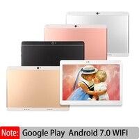 Оригинальный Восьмиядерный планшетный ПК 10,1 дюймов Android 7,0 ips с Google Plya WiFi SIM 3g вызов MT8572 процессор добавить клавиатуру кожаный чехол