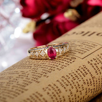 Vintage Natural Ruby Golden Ring 2