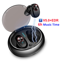 Bluetooth Earphone With V5.0+EDR Stereo Sound V5 Wireless Earphone Built in Microphone Hands free Calling Bluetooth TWS Earbuds