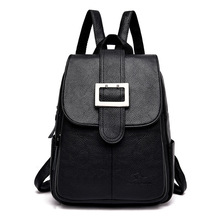 2019 New Simple Style Backpack Women Leather Backpacks for Teenage Girls Female Luxury Backpack Shoulder Bag
