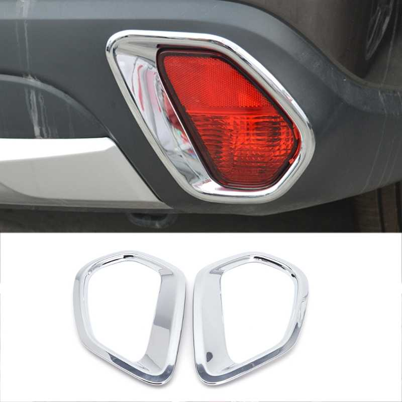2 Pcs Chrome Car Back Rear Fog Light Lamp Cover Trim For Mitsubishi Outlander 2016 2017