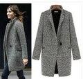 Зимнее пальто женщин бесплатная доставка 2015 новый оригинальный европейские станции хаундстут шинель женщины ветровка