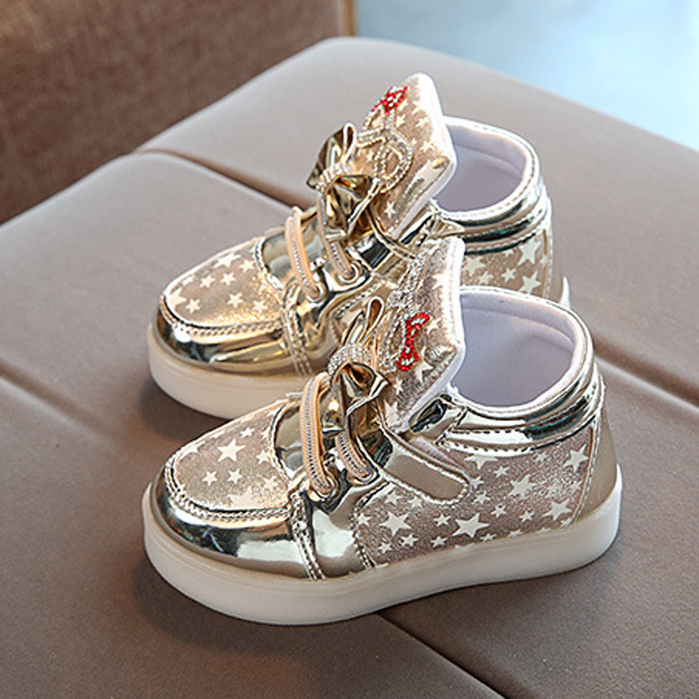 Shoes Sneakers Baby-Girls Toddler Newborn-Baby Fashion Casual Child -3 Led-Light Star-Luminous