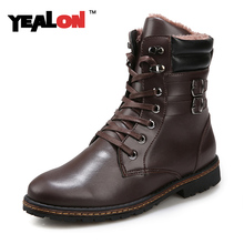 Fashion Men's Boots 2016 Autumn Winter Ankle Boots Men Cotton Casual Outdoor Short Shoes Buckle Decorations Boots Size 39-44