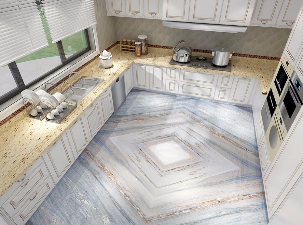 Italy 3D Flooring Blue Jinsha stone pattern Wall papers Home Decor For Any room 3D Floor Painting Self adhesive Wallpaper free shipping marble texture parquet flooring 3d floor home decoration self adhesive mural baby room bedroom wallpaper mural