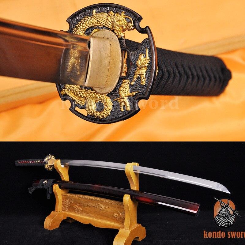 고품질 일본 칼 용 사무라이 카타나 스 풀탕 블레이드는 대나무를자를 수 있습니다
