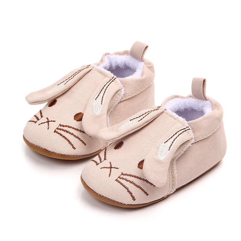Newborn Baby Shoes Cute Animal Knitted Kid Shoes Spring Autumn Infant Toddler Long Ear Inddor Prewalker First Walkers Slippers