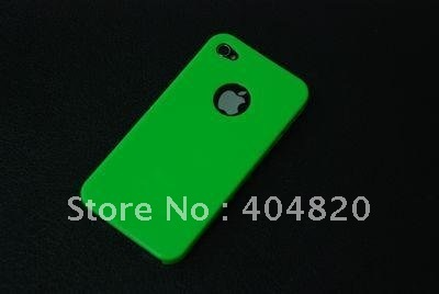 5 pcs Brand New High Quality Cell Phone Hard Case For iPhone 4S 4G 4 green free shipping 902730-001G