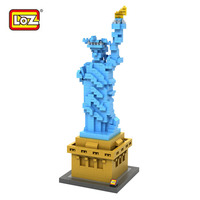 Loz 9387 Mini Diamond Building Block World Famous Architecture Statue Of Liberty New York United States