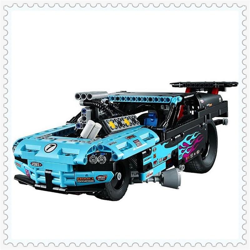 LELE 38000 Technic City Series Drag Racer Car Building Block Compatible Legoe 647Pcs DIY   Toys For Children enlighten 129 police series headquater city riot building block compatible legoe 589pcs diy toys for children