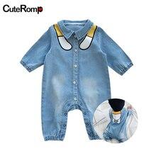 Забавные джинсовые детские комбинезоны детская одежда комбинезон для новорожденных Для мальчиков и девочек, детские комбинезоны в ковбойском стиле Модные pagliaccetto neonato onesie