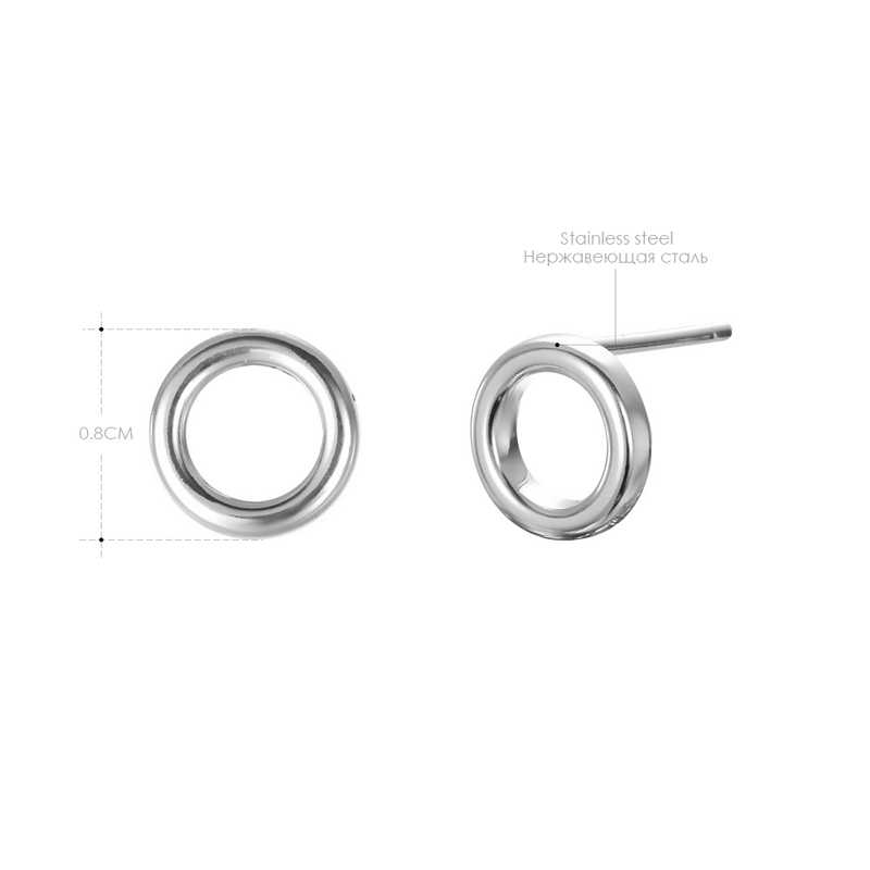 สุภาพสตรีขนาดเล็กรอบความปลอดภัย Pin ต่างหูผู้หญิงต่างหูสแตนเลสสตีลยอดนิยมแหวนหู Studs เครื่องประดับต่างหู Studs