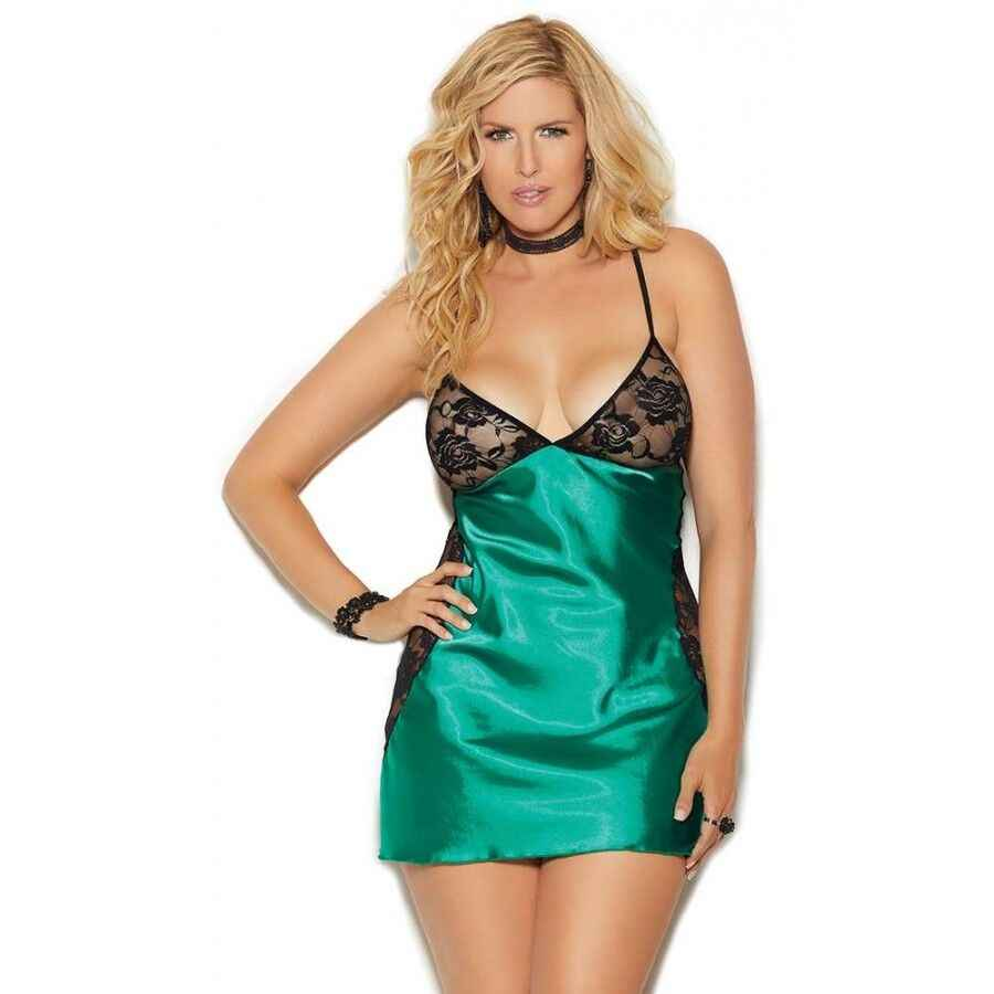 08c62e496 ... BKLD Sexy V-neck Lingerie Night Dress Sleeveless Ladies Satin Nightgown  Plus Size See Through ...