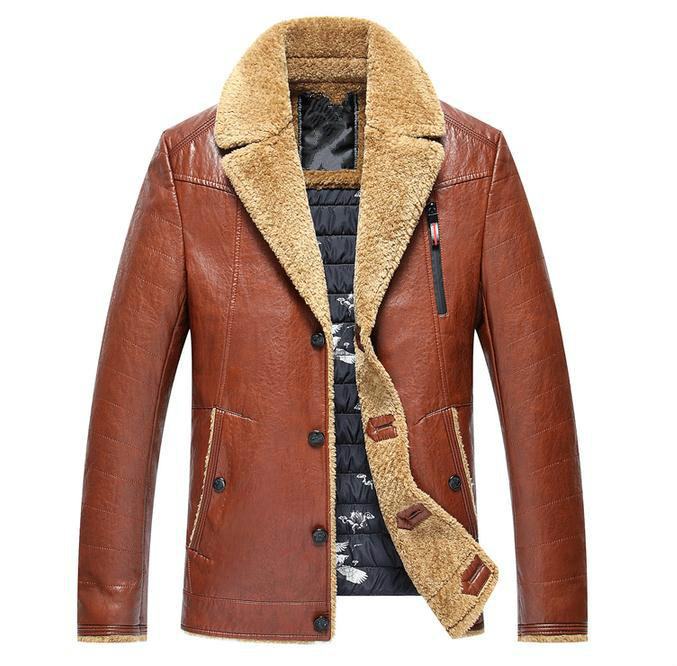 Winter Genuine Leather Mens Jacket Brand Clothing Fashion Men Sheepskin Leather Jackets And Coats 2017 New Mens Leather Jacket