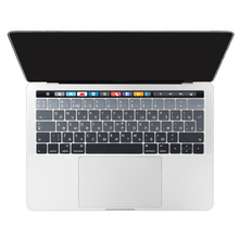 For Apple Macbook 2016 Version Pro 13 15 Touch Bar Keyboard Cover Laptop Keyboard Sticker EU Russian Cyrillic Skin Grey to Back