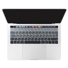 Для Macbook 2016 2018 версия Pro 13 15 Сенсорная панель крышка клавиатуры стикер испанской раскладки клавиатуры ноутбука ЕС русский Cyrillic кожи градиент цвета