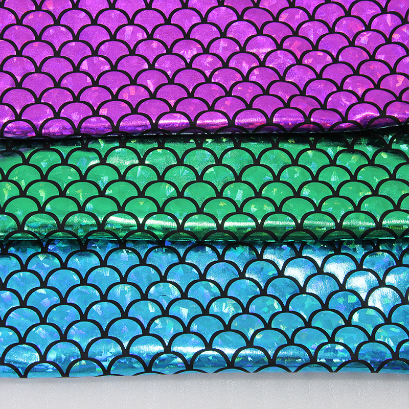 47022 50 145cm fish scale 4 ways stretch laser knit fabric for Fish scale fabric