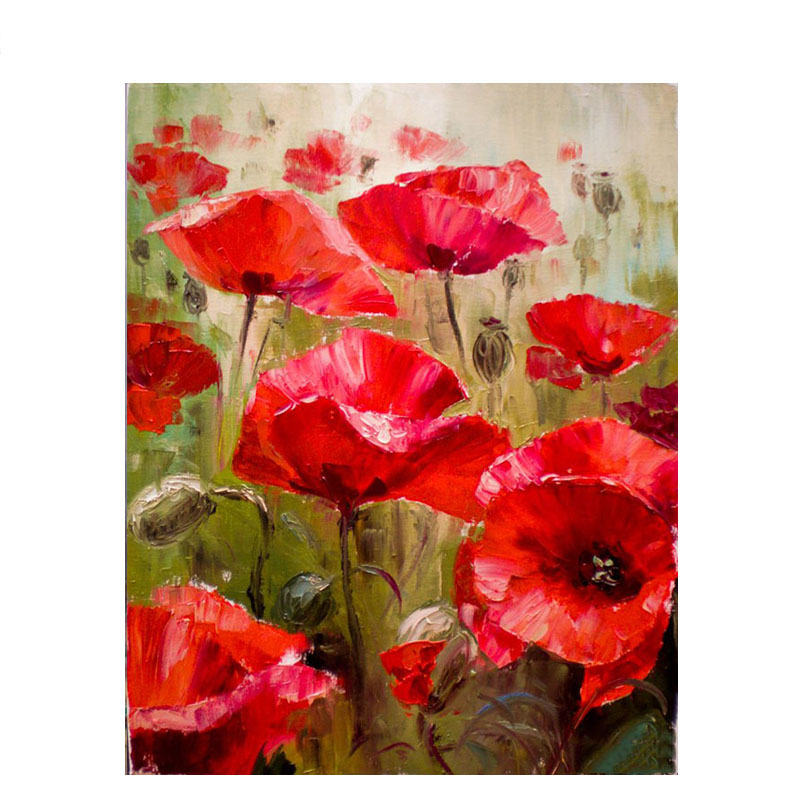 Aliexpress buy artsailing modular picture by numbers red poppy aliexpress buy artsailing modular picture by numbers red poppy flower paintings by numbers poppies with a frame on canvas diy kit set np 114 from mightylinksfo