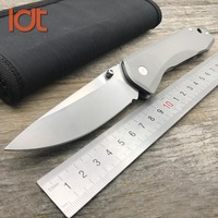 LDT 761 Double Ball Bearing Tactical Folding Knife S35VN Blade Titanium Handle Pocket Knives Outdoor Hunting knife EDC Tools