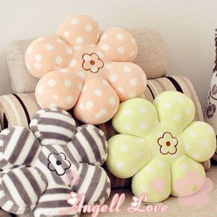 Wholesale Home Hecoration Gift Plush Toy Flower Chair Pad Cushion Car Seat Cushion Pillow 42*42*9CM 4PCS/ LOT FREE SHIPPING