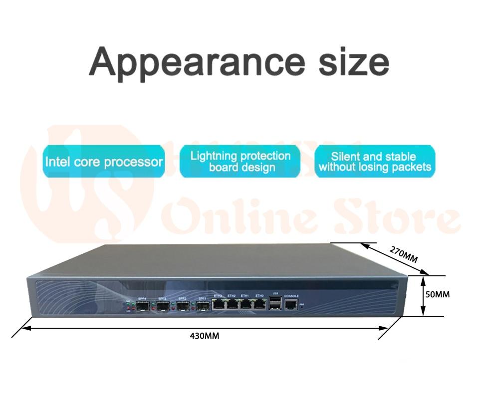Firewall Mikrotik Pfsense VPN Network Security Appliance Router PC Intel  Core I3 4160,HUNSN RS20,4LAN/2USB/1COM/1VGA Mini Pc Gigabyte Mini Netbook