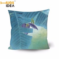 HUGSIDEA Scenic Print Square Cushion with Insert Flowers Printed Decorative Sofas Throw Waist Cushions Car Seat Pillows Outdoor