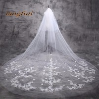 Cathedral Bridal Veils Long Wedding Veil Velo Novia Largo Con Peineta Lace Bridal Cathedral Veil 5m Wedding Accessories