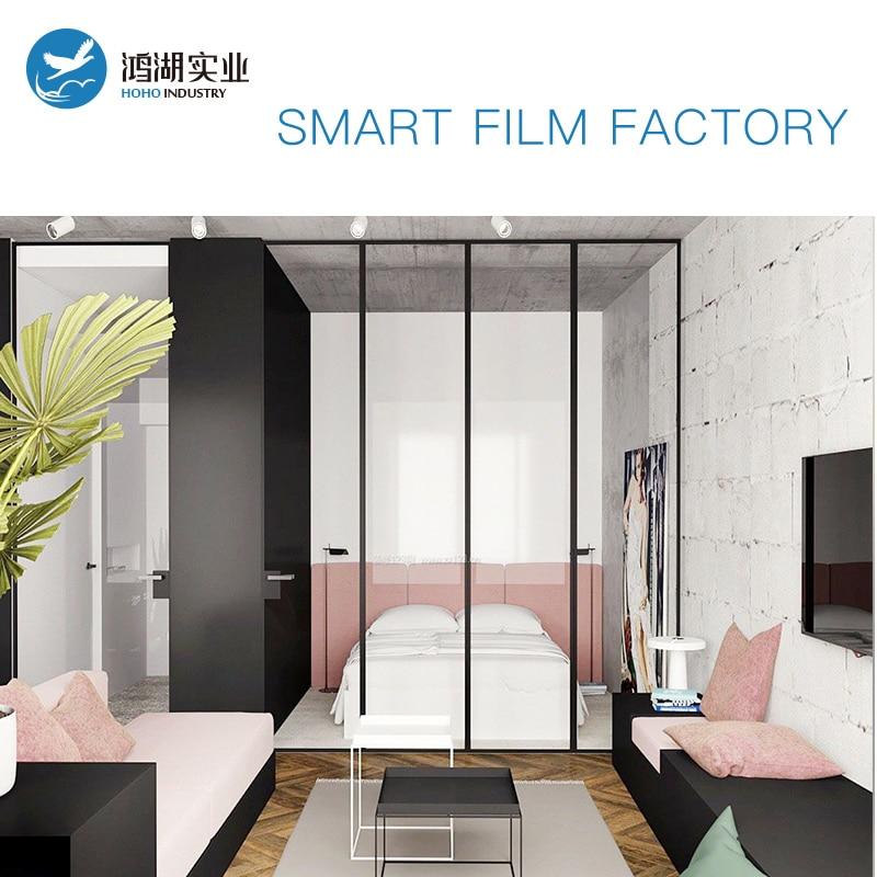 Sunice 1.5 m x 1.5 m taille peut être personnalisé intimité magique blanc PDLC Film intelligent bâtiment/Automobile fenêtre teinte magique film intelligent