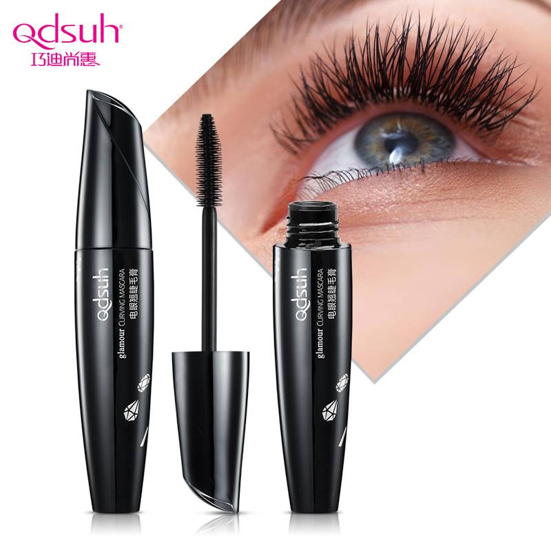 Qdsuh Brand 3D Black Curling Mascara Makeup Volume Quick Dry Thick Extension Lengthening Eyelashes Waterproof Lasting Cosmetics