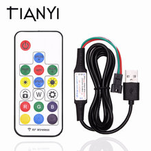 DIY USB 5V LED Controller 17Key RF Wireless Dream Color Remote Control For WS2811 WS2812B 1903 Driver IC LED Strip 5050(China)