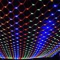 2*3 M 208 LED 8 Modos de 220 V Super Brilhante Malha Net Luz Cordas Luzes De Natal Ano Novo Iluminação Do Feriado do Casamento Do jardim