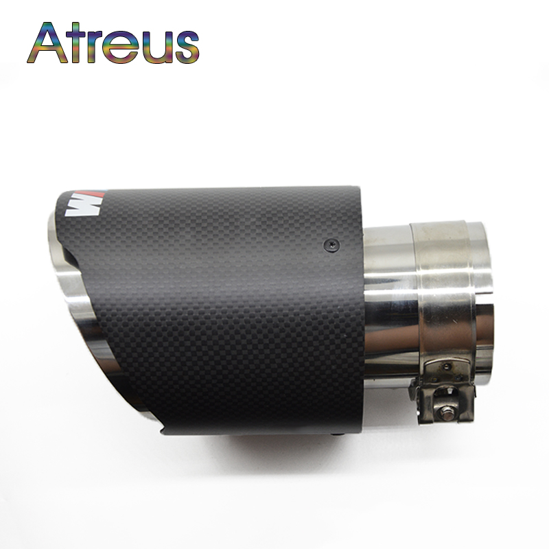 Atreus Carbon Fiber Car Exhaust Muffler Tip Pipe For BMW F30 320i 316i M3 M4 M5 1 2 3 4 5 6 7 X Z Series Accessories полуось на bmw 316i в беларуси