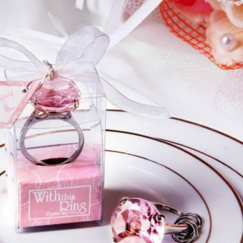 12 UNID Envío de bodas Anillo de diamante forma de llavero - Para fiestas y celebraciones - foto 1