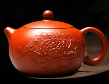 New Arrival Porcelain Tea Pot Authentic Yixing Teapot 200ml All Handmade Peony Flowers Beauty Clay Teapots Ceramic Kung Fu Set