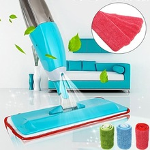 2019 Household Water Spray Flat Mop 360 Spin Head And Red Cleaning Cloth Dry Home Tools